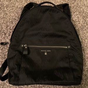 Michael Kors Black Nylon Kelsey Signature Backpack
